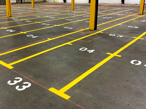 Pin Point Line Striping & Marking - Warehouse Marking